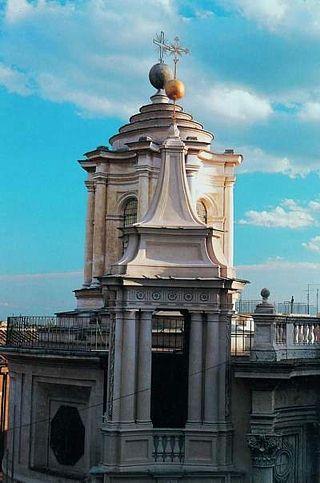 San Carlo alle Quattro Fontane: belfry and dome, © Padri Trinitari, San Carlo alle Quattro Fontane