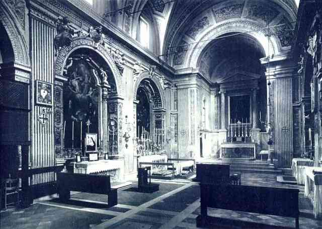 Santa Lucia in Selci (interior), photograph from